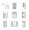 design of door and front icon collection vector image