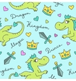 dragons seamless pattern vector image vector image