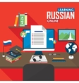 e-learning russian language vector image vector image