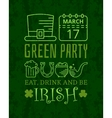 Eat drink and be irish grunge vintage poster vector image