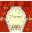 elegant invitation with golden bow vector image