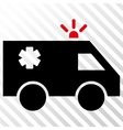 Emergency Car Icon vector image