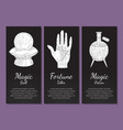 esoteric banners templates set magic ball vector image