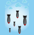 falling bombs vector image