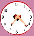 feet and clock vector image vector image
