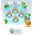 find he difference penguin 3 vector image vector image