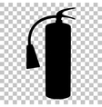 Fire extinguisher sign Flat style black icon on vector image vector image
