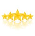 Five Stars vector image