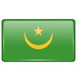 Flags Mauritania in the form of a magnet on vector image vector image