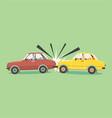 flat design car accident 0n road i vector image vector image