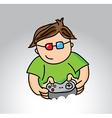 gamer sketch over gray background