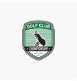 golf club badge logo-6 vector image vector image