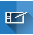 graphic tablet flat icon vector image vector image