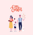 greeting card template with happy easter vector image