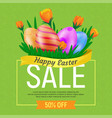 happy easter sale web banner or poster template vector image vector image
