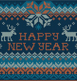 Happy New Year Scandinavian style seamless knit vector image vector image