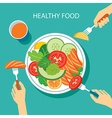 healthy food concept flat design vector image vector image