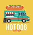 hot dog food truck vector image vector image