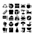 Hotel and Restaurant Icons 10 vector image vector image