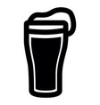 isolated beer icon vector image vector image