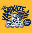 kamikaze rolling club grunge design vector image vector image