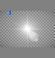 lens flare effect isolated on transparent vector image vector image