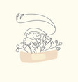 minimal woman face on white backgroundone line vector image