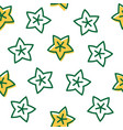 outline star fruit tropical fruit seamless pattern vector image vector image