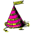 Party cap decorated vector image vector image
