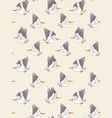 pelican seamless pattern vector image vector image