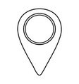 pin location isolated icon vector image vector image