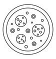 Pizza icon outline style vector image