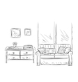 Room interior sketch Place for relax vector image vector image