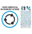 Rotate CW Icon with 1000 Medical Business vector image