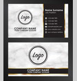 sample business name card template vector image