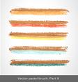 set colorful stroke vector image vector image