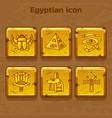set design golden egypt travel icons vector image vector image