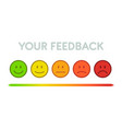 set faces scale feedback isolated vector image vector image