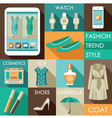 Set of flat design fashion icon for web and mobile vector image vector image