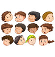 set of people head with expression vector image
