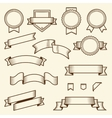set vintage ribbons and labels vector image