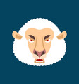 sheep angry ewe evil emoji farm animal aggressive vector image vector image