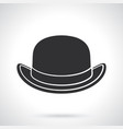silhouette retro bowler hat front view vector image