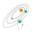 Solar system cartoon icon vector image