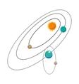 Solar system cartoon icon vector image vector image