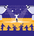 stage with musical show vector image