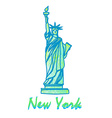Statue Of Liberty - Symbol of New York City vector image vector image