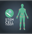 stem cell therapy logo icon design medical vector image vector image