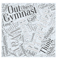 Suggestions for Practicing Gymnastics at Home Word vector image vector image
