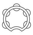 tambourine thin line icon musical and instrument vector image